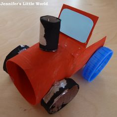 a simple toilet roll tube tractor Tractor Crafts, Farm Crafts, Preschool Crafts, Vbs Crafts, Horse Crafts, Toilet Paper Roll Crafts, Paper Crafts, Crafts To Make, Crafts For Kids