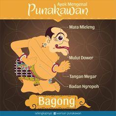 Bagong biarpun sering jadi bulan-bulanan karena sifatnya yg lugu, namun kesabarannya luar biasa. Dengan kejujuran & kepolosannya, gencar menyuarakan hati rakyat & kritik akan situasi/pemerintah. Jujur ajur kadang harus kita lakoni demi memperjuangkan kebenaran yg kita yakini.  #warisanpunakawan #punakawan #heritage #wayang #wayangkulit #budaya #culture #puppet #shadowpappet #semar #gareng #petruk #bagong #indonesia #jogja #kampanyebudaya #budayaindonesia #java #infographic #infografis