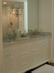Awesome White Mountain House Rental Designed in Contemporary Building Style: Sensational Bathroom Interior In White Mountain House Rentals With Traditional Vanity Furniture Made From Wooden Material And Marble Countertop ~ tiranaddb.com Mountain House Inspiration