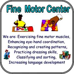 Preschool Learning Center Objectives | PRINTABLE CENTER SIGNS WITH EXPLAINATIONS
