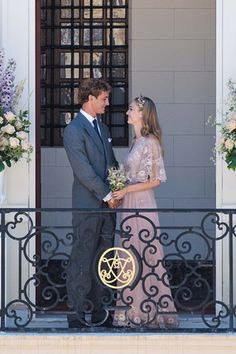 Beatrice Borromeo marries Pierre Casiraghi in Valentino pink Dress