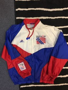 Vtg 1994 World Cup USA 94 Windbreaker Jacket L/XL 90s Soccer FIFA Apex  | eBay