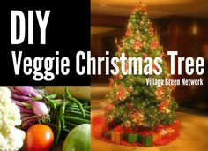 DIY Veggie Christmas Tree / http://villagegreennetwork.com/diy-veggie-christmas-tree/