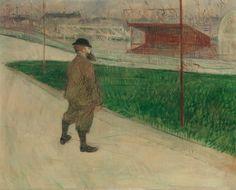 "artist-lautrec: ""Tristan Bernard at the Buffalo Station, Henri de Toulouse-Lautrec Medium: oil on canvas"" Henri De Toulouse Lautrec, Gordon Setter, Buffalo, Oil On Canvas, Canvas Prints, Post Impressionism, Impressionist Art, Art Institute Of Chicago, Henri Matisse"