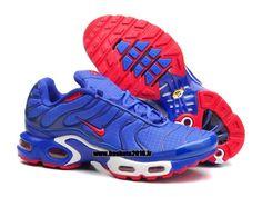 8d52f5323cb519 Boutique Officielle Nike Air Max TN Tuned Chaussures Pas Cher Pour Homme  Bleu - Rouge - Blanc