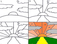 Sunrise by traqair57, via Flickr. Perspective drawing
