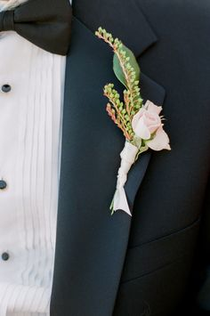 Pink Rose Boutonniere | Mark's Garden | Yvette Roman Photography | TheKnot.com