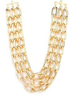 Triple Gold Collar from Bauble Bar + Nina Garcia [only $26]