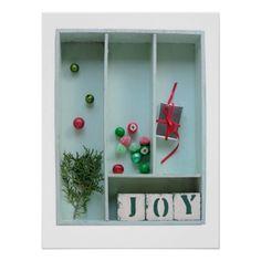 Christmas joy poster #Christmasposter, #joy, #ornaments, #zazzle