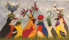 garden-party, vicky taylor needlepoint canvas from melissa shirley