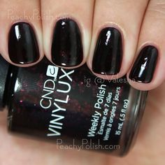 CND VINYLUX Poison Plum | Fall 2015 Contradictions Collection | Peachy Polish