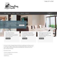 WordPress site graydogproperties.com uses the Appfolio Framework (Do not use as active theme) wordpress website template