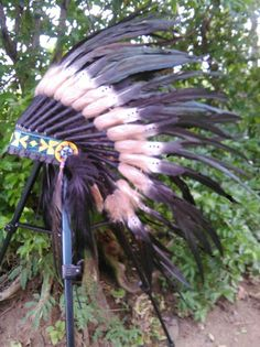 For kid / children Double Feather Headdress by TheLandOfCockaigne