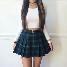 Image shared by Maria M. Find images and videos about girl, fashion and style on We Heart It - the app to get lost in what you love. Cute Fashion, Skirt Fashion, Teen Fashion, Korean Fashion, Fashion Outfits, Fasion, Fashion Moda, Fashion Wear, Ladies Fashion