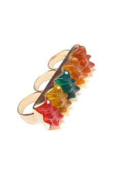 Three Finger Gummy Bear Ring, romeingpanda,  via the Nylon shop,  (I have a history with gummy bears. A long and boring story, full of angst and storms that mean nothing.)