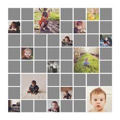 52 Week Album & Canvas Photoshop Templates on etsy Wedding Album Layout, Grid Layouts, Photo Books, Layout Inspiration, Page Layout, Scrapbook Layouts, Squares, 1, Photoshop