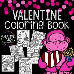 Time to feel the love from Creative Clips! Enjoy this free Valentine Coloring Book! Print all or some of the pages for your kiddos (or even yourself if you need a little stress-free coloring session!) | by Krista Wallden