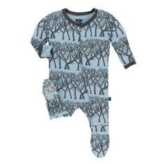 010244569 Kickee Pants Print Footie Pajamas - Boys Foot Pads, Boys Pajamas, Swaddle  Blanket,