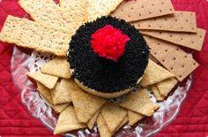 Black Widow: caviar cake