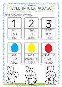 Atividades Páscoa Activities, Education, Words, Professor, Preschool Literacy Activities, Letter E Activities, Kids Learning Activities, Easter Bunny, Dyscalculia