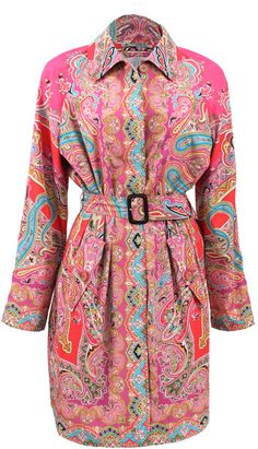 0cc7c2505b5ecf Etro Belted Paisley Trench @Lyst Trench, Paisley, Dress Up, Costume