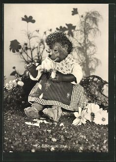 schöne AK Mecki´s Frau wartet auf einem Stein sitzend in Sammeln & Seltenes, Ansichtskarten, Motive   eBay