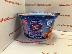 Crazy Food Dude: Review: Dannon Light & Fit Greek Salted Caramel Greek Yogurt