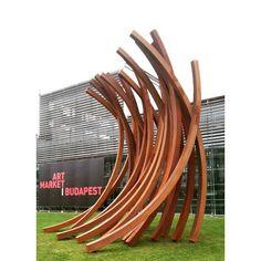 Bernar Venet: arcs, 2015 #Budapest #artmarket.#bernarvenet #artmarketbudapest #fineart #insta_budapest #artmarketbudapest2015 #abstractsculpture #artcontemporain #contemporaryart #metalsculpture #millenaris #ig_magyarorszag #ig_artistry #ig_budapest #artlovers