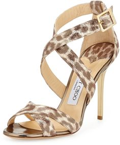b6b97150302 Pre-Owned Jimmy Choo Willis Gold Snake Half D orsay Pumps Size 38.5 ...