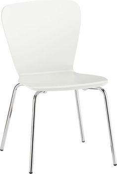 Felix White Side Chair    Crate & Barrel $79.95 http://www.crateandbarrel.com/dining-and-entertaining/dining-kitchen-chairs/felix-white-side-chair/f32911