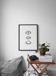 Fine Little Day, Eye Eye poster (Ribba Frame, Ikea)