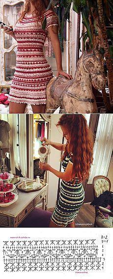 Ideas Crochet Vestidos Fashion Vanessa Montoro For 2019 Crochet Summer Dresses, Black Crochet Dress, Crochet Skirts, Crochet Clothes, Knit Dress, Vanessa Montoro, Beau Crochet, Mode Crochet, Diy Crochet