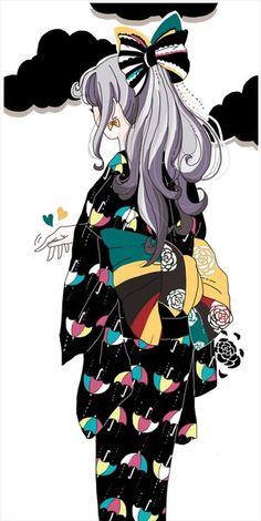ちょいと Anime Girl Kimono, Anime Art Girl, Manga Art, Pretty Drawings, Naruto Art, Aesthetic Art, Japanese Aesthetic, Fanart, Cute Illustration