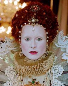 Elizabethan make-up - Wonderfully authentic!