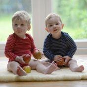 Fine Merino Baby-body, Stripy - £16.99 : Cambridge Baby, Organic Natural Clothing