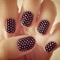 diy nail designs - Cute, simple and fun design.