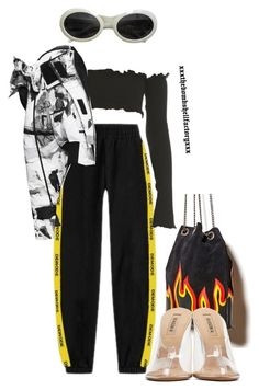"""mannequinxo x no plug // offset .. cardi b"" by xxxthebombshellfactoryxxx ❤ liked on Polyvore featuring Gucci, Forever 21 and adidas Originals"
