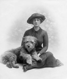 Florence Eleanor Chaplin (Painter and Illustrator) who was married to Ernest Howard Shepard the creator of Winnie the Pooh and Friends. United Kingdom c. 1912
