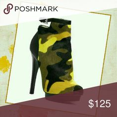 Shoes (Designer Booties) START YOUR CHRISTMAS SHOPPING EARLY Multiple color pony hair ankle booties MK.Camoflauge and Army Green are some of the new colors for this season.The bottoms are like brand new maybe some wear from people trying them on but there a steal for this price and are sold out in stores. Michael Kors Shoes Ankle Boots & Booties