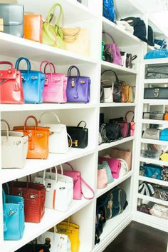 what?  can i just snatch a couple bags?!  Dream closet, in so many ways!