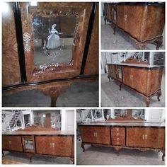 """Comoda din lemn masiv este considerată ca fiind reprezentativa pentru mobilierul vechi, având o """"personalitate"""" proprie.  Frumos compartimentată, cu spații generoase și discrete elemente de decor, comoda din fotografii a fost recondiționată in conformitate cu solicitările clientului, de specialiștii noștri.  #SaveMob #reconditionare #comodevintage Liquor Cabinet, Entryway Tables, Storage, Furniture, Home Decor, Purse Storage, Decoration Home, Room Decor, Larger"""