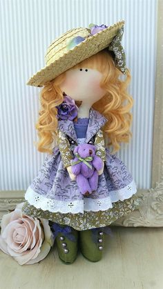 Cloth doll Handmade doll Fabric doll Tilda doll Rag doll Art doll UK made FLORENCE