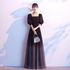 Black Prom Dresses, Ball Dresses, Elegant Dresses, Beautiful Dresses, Nice Dresses, Evening Dresses, Girls Dresses, Formal Dresses, Style Noir