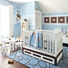 Folies en bleu pour la chambre de bébé - Chambre - Inspirations - Décoration et rénovation - Pratico Pratique
