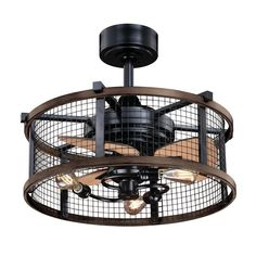 Buy the Vaxcel Lighting Oil Rubbed Bronze / Burnished Teak Direct. Shop for the Vaxcel Lighting Oil Rubbed Bronze / Burnished Teak Humboldt 3 Blade Indoor Ceiling Fan with A Wire Mesh Shade and save. Black Ceiling Fan, 3 Blade Ceiling Fan, Caged Ceiling Fan, Chandeliers, Industrial Ceiling Fan, Industrial Loft, Copper Ceiling, Modern Ceiling, Farmhouse Ceiling Lighting