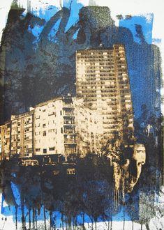 Pictures on Walls - Art - Vhils Urban Landscape, Landscape Art, Urban Photography, Landscape Photography, Man Vs Nature, Advanced Higher Art, Graffiti, Nyc Art, Political Art