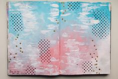 Art journal page ~ love is in the air