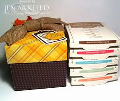 Stamped Silly: Lidded Gift Boxes from the Envelope Punch Board