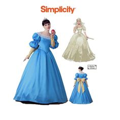 Misses Plus Size Fairy Tale Princess Costume Pattern, Simplicity Size 12 14 16 18 Snow White Dress Sewing Pattern Plus Size Sewing Patterns, Bag Patterns To Sew, Vintage Sewing Patterns, Evening Gown Pattern, Snow White Dresses, Snow White Costume, Costume Patterns, Fairy Princesses, Simplicity Patterns