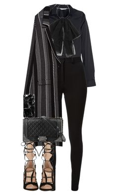 It is not that I'm so smart. But I stay with the questions much longer. by quiche on Polyvore featuring polyvore fashion style H&M Zara Victoria Beckham Gianvito Rossi Yves Saint Laurent Casetify Chanel clothing